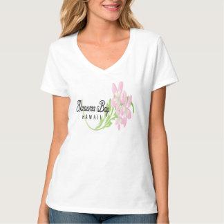 Flores rosadas del Plumeria de Hawaii Camisetas