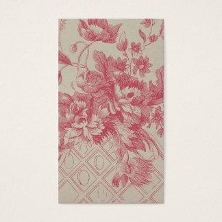 Flores rosadas del vintage tarjeta de negocios