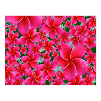 Flores rosadas e intensas, cumpleaños de la esposa postal