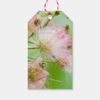 Flores rosadas etiquetas para regalos