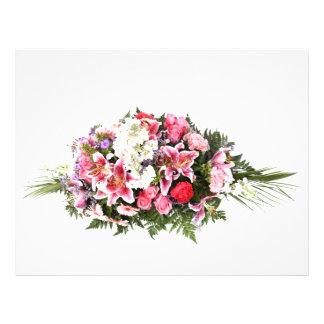 flores rosadas tarjeta publicitaria