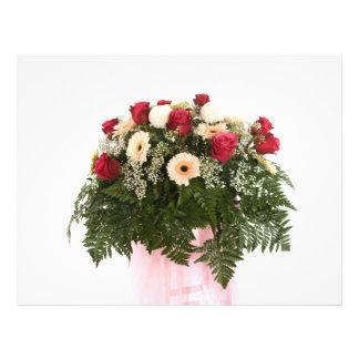 flores rosadas flyer a todo color