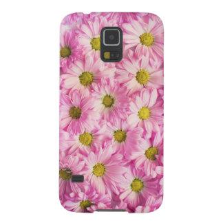 Flores rosadas hermosas carcasa galaxy s5