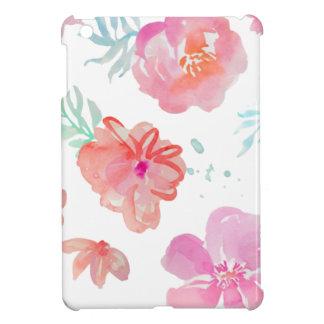 Flores rosadas románticas de la acuarela