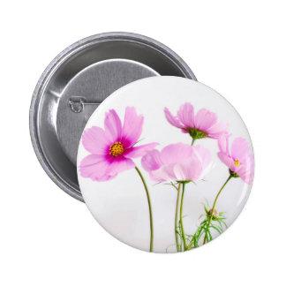 Flores rosadas simples chapa redonda 5 cm