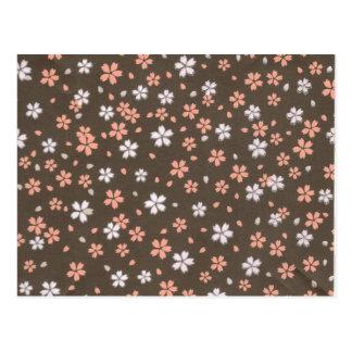 Flores rosadas y blancas de Origami Postal
