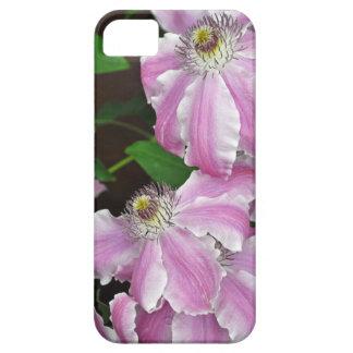 Flores rosadas y blancas del clematis funda para iPhone SE/5/5s