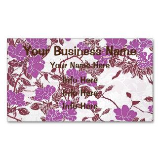 Flores rosadas y blancas femeninas tarjetas de visita magnéticas