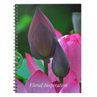 Flores rosados de Lotus Cuaderno