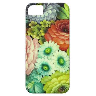 Flores rusas del arte de gente iPhone 5 coberturas