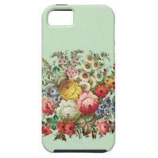 Flores rusas del arte de gente iPhone 5 protectores