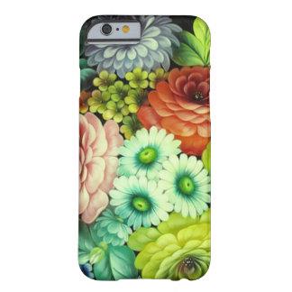 Flores rusas del arte de gente funda de iPhone 6 barely there