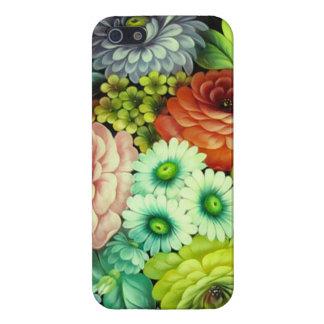 Flores rusas del arte de gente iPhone 5 protector