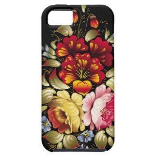 Flores rusas del arte de gente iPhone 5 Case-Mate carcasa