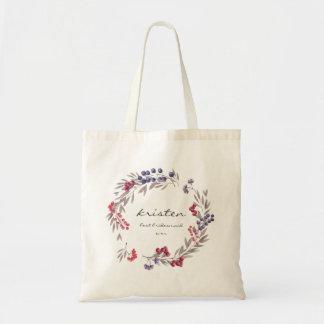 Flores rústicas de la montaña del bolso de la dama