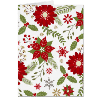flores rústicas modernas del navidad tarjeta de felicitación