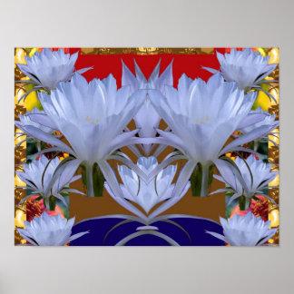 """ flores salvajes de LILLY 16x12: Energía positiva Póster"