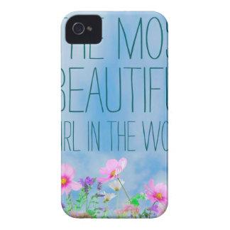Flores salvajes el chica más hermoso del mundo Case-Mate iPhone 4 cárcasas