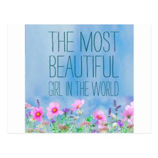 Flores salvajes el chica más hermoso del mundo postal