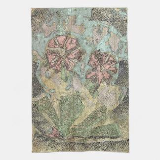 Flores salvajes en colores pastel toallas