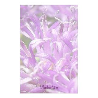 Flores salvajes personalizadas de la lavanda papelería