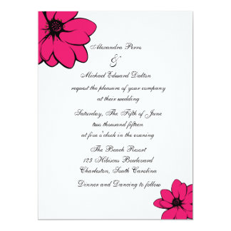 Flores simplemente tropicales en reciclado invitación 16,5 x 22,2 cm