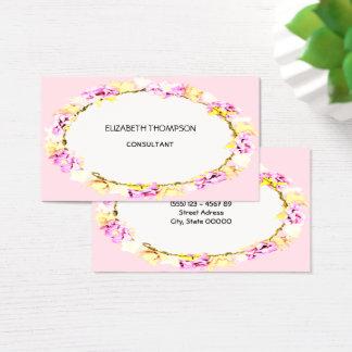 flores suaves elegantes tarjeta de visita