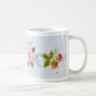 Flores tradicionales taza de café