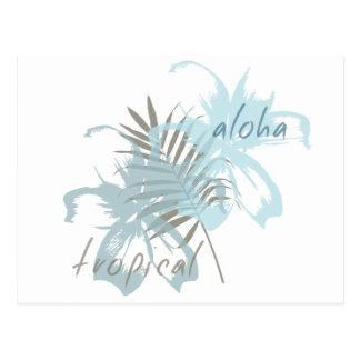 Flores tropicales de la hawaiana tarjetas postales