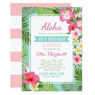 Flores tropicales de las invitaciones el | de Luau