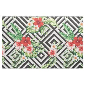 Flores tropicales modernas con el modelo tela