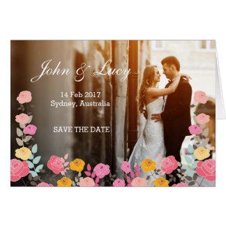 Flores únicas románticas de la tarjeta de la