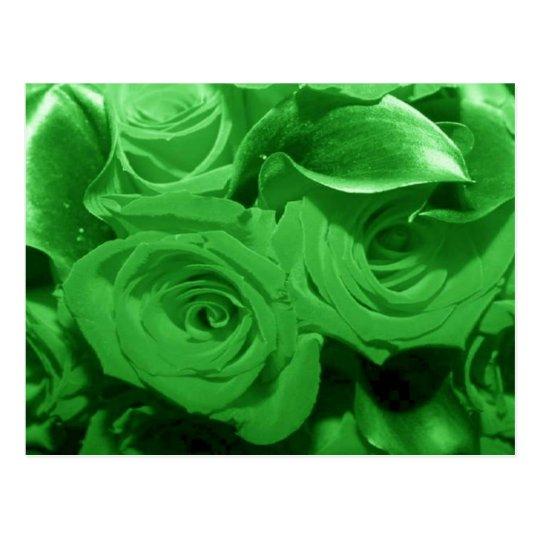 Flores verdes postal