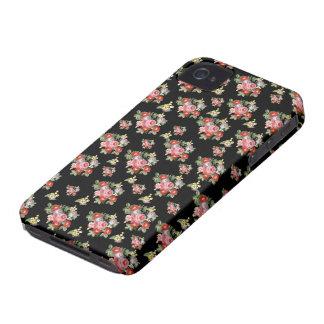 flores vintage iPhone 4 cobertura