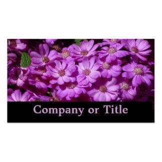 Flores violetas de las margaritas tarjetas de visita