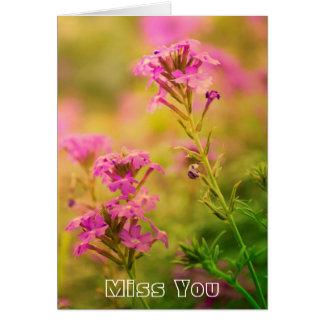 Flores violetas felicitacion