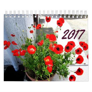 Flores y calendario 2017 de los árboles