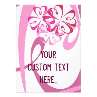 Flores y cintas editable invitación personalizada