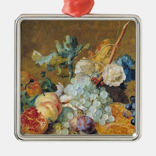 Flores y fruta adornos de navidad