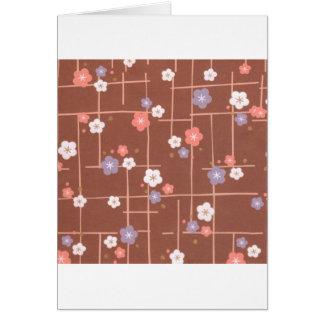 Flores y líneas de Origami Tarjeta