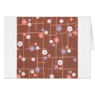 Flores y líneas de Origami Tarjeton