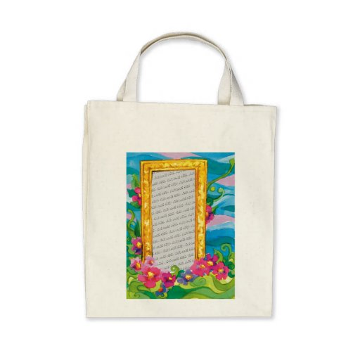 Flores y marco lindos para su foto - bolso bolsas