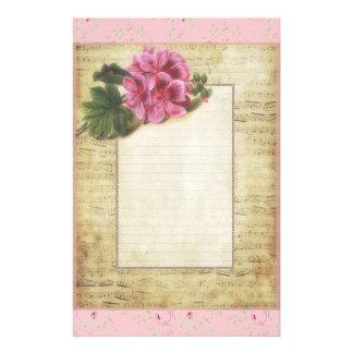 Flores y música papelería