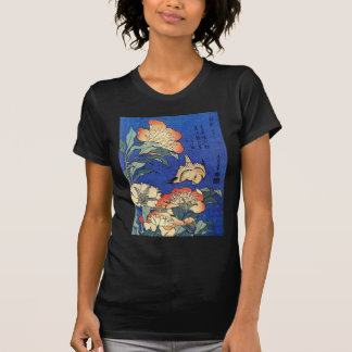 Flores y pájaro, Hokusai Camiseta