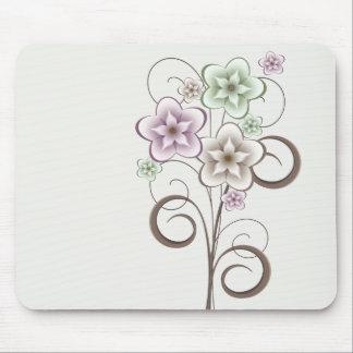 Flores y rizos Mousepad