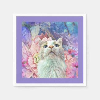 Flores y servilletas de papel de Flutterbys