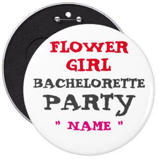 """FLORISTA de encargo de Bachelorette 6"""" botón"""