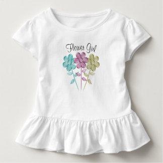 Florista del color de agua - camiseta del volante