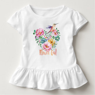 Florista del ramo del corazón del colibrí camiseta de bebé