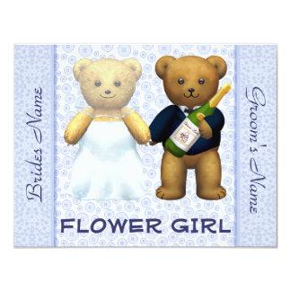 Florista - el boda azul de los osos de peluche invitación 10,8 x 13,9 cm